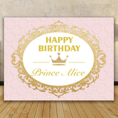 Princess Party Pink Gold Glitter Birthday Photography backdrops Background