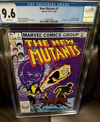 THE NEW MUTANTS #1, CGC 9.6 (Mar 1983, Marvel)KEY ISSUE!!! WHITE PAGES!!!!!!!!!!