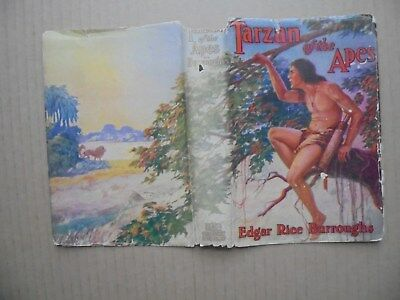 TARZAN OF THE APES by EDGAR RICE BURROUGHS  1914 HARCOVER WITH DUST JACKET