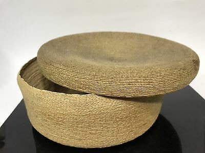 VTG Tight Weaved Woven Native American Artisan Tribal Basket Bowl With Lid