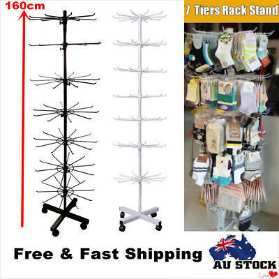 Wrought Iron Rotating Shop Display Rack Stand Adjustable Stand Retail Organiser