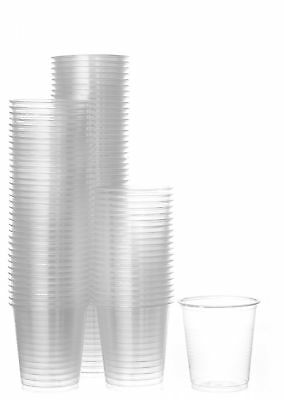 Disposable Plastic Cups Small, Clear 3.5 oz. Snack & Drink Size 2 Pack 100 Cups