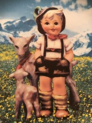"MI Hummel ""Little Goat Herder"". The Danbury Mint 1992 Gentle Friends"