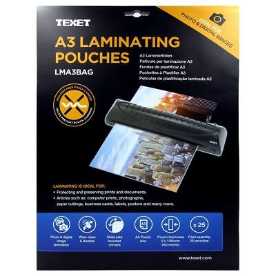 Texet A3 Laminating Pouches Pack of 25