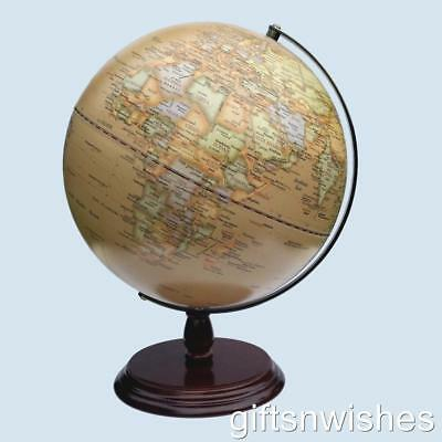 GORGEOUS World Educational Antique Globe 30cm Home Decor Wedding Gift
