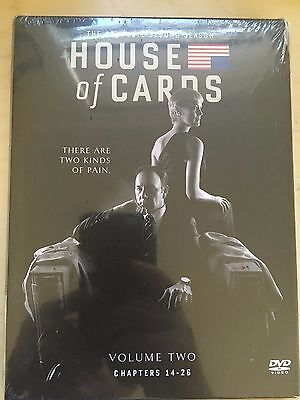 House of Cards: The Complete Second Season (DVD, 2014, 4-Disc Set) Sealed