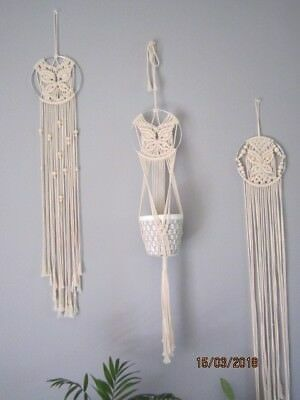 Macrame Wall Hanging and Plant hanger Set Of 3