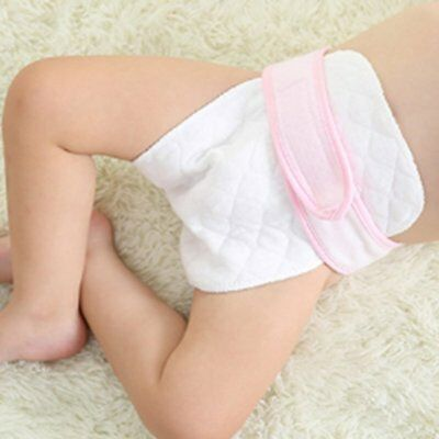 Reusable Baby Kids Diaper Nappy Leakproof Washable Wet Dry Cloth Cotton 3 layer