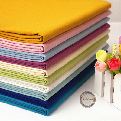 Solid Cotton Linen Fabric Natural Cloth Upholstery Crafts Material Patchwork