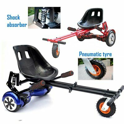 Black/Red Hover Go Kart for Electric Scooter Adjustable Cart Racing Seat Self B2