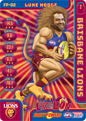 2018 Afl Teamcoach Footy Powers Card,lions Luke Hodge Fp02 23/03/2018