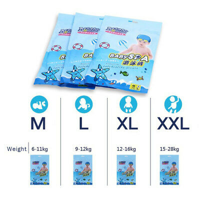 Disposable Baby Toddler Boy Girl Swim Pants Waterproof Cotton Swimming Diapers