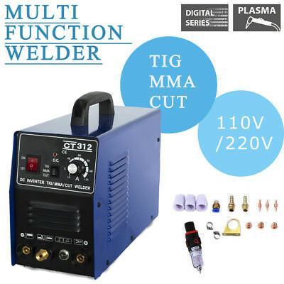 CT312 110V/220V TIG/MMA Welder Plasma Cutter  3in1 Welding Machine & Accessories