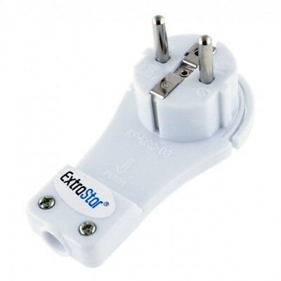 Clavija Base Adaptador Enchufe plano Schuko 16A -250V Para arrimar mueble pared