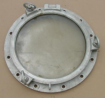 "Authentic Aluminum Porthole 22"" Diameter 3 ""dog"""