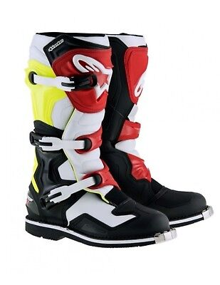 Stivali Alpinestars Tech 1 Cross/Enduro/Quad BK WH YEL FL RD