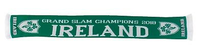 Ireland Rugby Grand Slam 6 Nations Champions 2018 Scarf