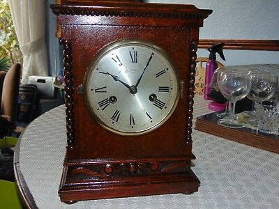 Antique Oak Cased London Bracket Clock.