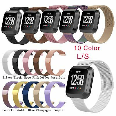 Milanese Magnetic Loop Stainless Steel Band Strap For Fitbit Versa Bracelet S/L