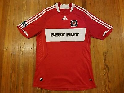 e0bb0e493 AUTHENTIC ADIDAS 2008-2009 Chicago Fire Red Home MLS Soccer Jersey ...