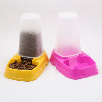 Hot New Pet Dog Cat Automatic Water Dispenser Food Dish Bowl Feeder for sale