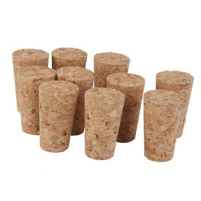 10pcs Tapered Corks Stoppers DIY Craft Art Model Building 22*17*35mm X6N8