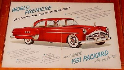 Cool 1951 Packard Patrician Sedan In Red Large Ad - Retro 50S Vintage American