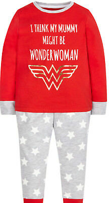 NEW BNWT MOTHERCARE Wonder Woman Girls Pyjamas Age 4-5 Years FREE P&P RRP £13
