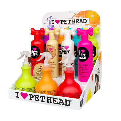 Pet Head Natural Shampoo, Conditioner Spray Wipes - Dog Cat Puppy Grooming Range