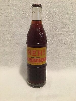 FULL 12oz NEHI ROOT BEER YELLOW LABEL ACL SODA BOTTLE ERIE, PA