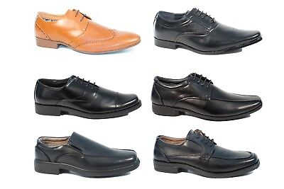 Mens Formal Smart Work Shoes Oxford Brogues Size 6 12 Leather Lace