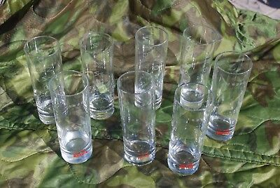 Lot of 8 Beefeater Glasses London Dry Gin Mixing Cocktail Drinking Clear Glass