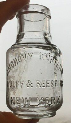 Anchovy Mustard Wolff & Reessing New York NY Bottle Galveston Texas TX