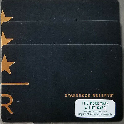 25 card lot Exclusive USA STARBUCKS RESERVE black Gift Card NEW!