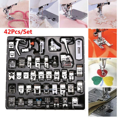 Domestic Sewing Machine Presser Foot Feet Set 42pcs for Brother Janome Singer UK