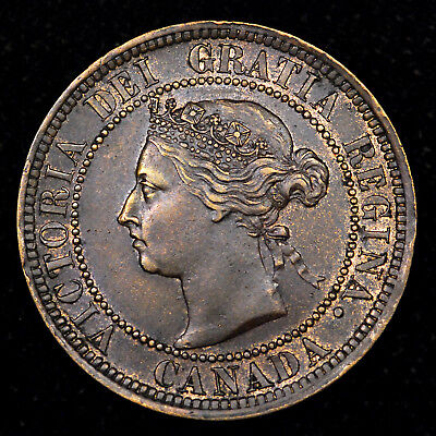 1888 Canada Large Cent - nice high detail coin with nice luster!