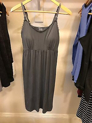 NWOT Destination Maternity Gray Maternity Nursing Gown Size M