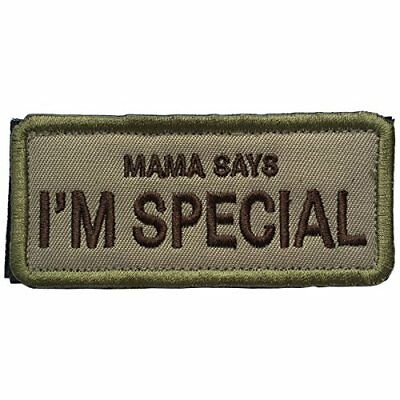 SpaceAuto MAMA SAYS I'M SPECIAL Funny Hook & Loop Tactical Morale Badge Patch x