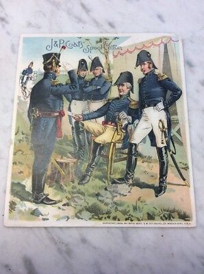 J&P Coats Spool Cotton Uniform Of The Army Thread Sewing Trade Card