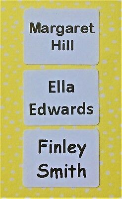 Stick On Name Labels/ Name Tags for clothing - 40, 60 or 80