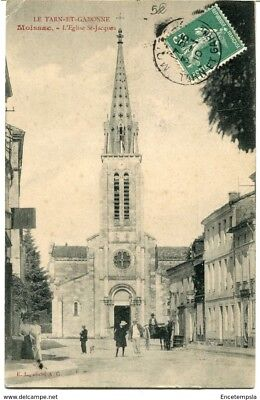 CPA-Carte postale-FRANCE -Moissac - L'Eglise Saint Jacques - 1910 (CP1101)