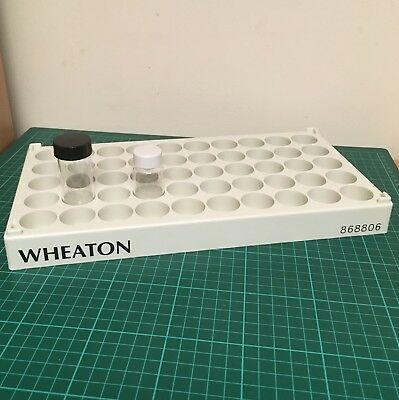Wheaton Vial Bottle Rack 50 position 28mm wells for 20ml and 30ml glass bottles