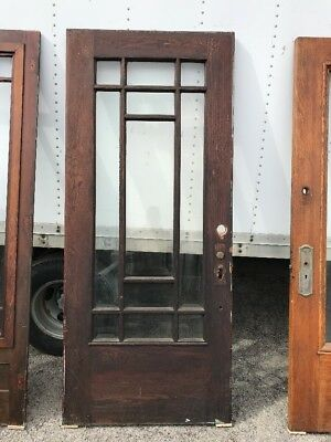Mar 35 Antique Arts And Crafts Door  Antique Oak Entrance Door 35.75 X 83.25