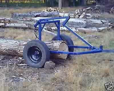 CD Plans:  for a log arch/skidding cart for ATV, 4 wheeler, small tractor