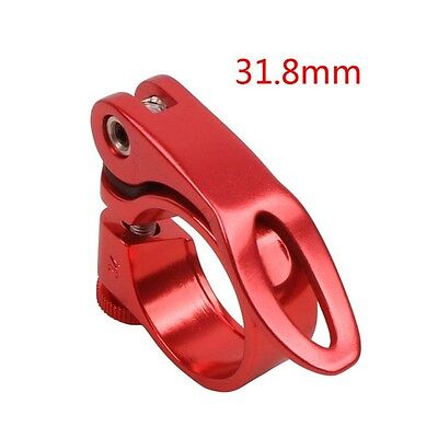 QR 31.8mm Clamp Quick Releases Road Bike MTB Seat Post Clamps Seatpost Red