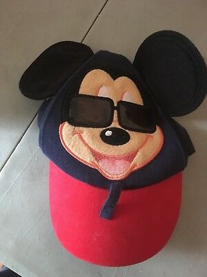 Walt Disney Parks Mickey Mouse Sunglasses Baseball Cap With Ears Toddler Sz Hat