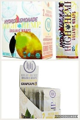 High Hemp Lemonade & Organic Pot Mix 2 Boxes- 50 Pouches -100 Wraps/Filters!
