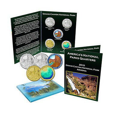 2010 Grand Canyon National Park Quarter Collection Uncirculated and Enhanced