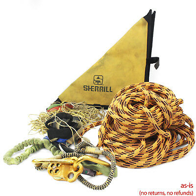 Sherril Tree Arborist Rope, Throwline & Weight & Other Misc. Climbing Gear Set