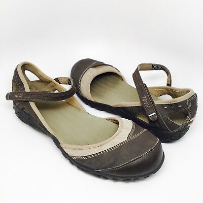 b3d7ace25 TEVA Brown Hiking Walking Shoes Womens Size 7.5 Mary Jane Closed Toe 4188